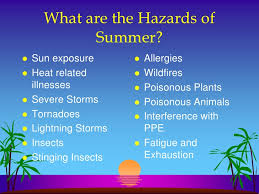 weather Hazards of Summer
